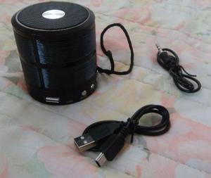 Mini Caixa De Som Speaker Ws-887 Com Bluetooth, Fm, Entrada