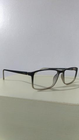 Armação oculos de grau mont blanc mb89 grafite   Posot Class 376b28b630