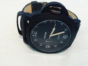 Relógio Calvin Klein Masculino Pulseira de couro