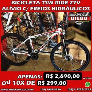 Bicicleta TSW aro 29 - grupo alívio 27v - suspensão