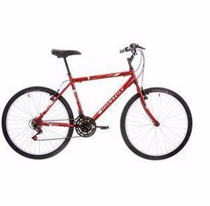 Bicicleta houston aro 26 vermelha 21 marchas