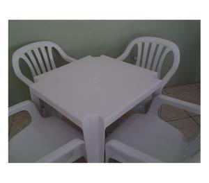 Cadeiras e Mesas, Jogo BRANCO (1 mesa c4 cadeiras p182KG)
