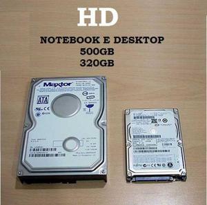 HD 320GB / HD 500GB Notebook e Desktop Novo 2.5 Sata