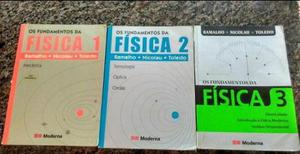 Livros FIsica Vol. 1, 2 e 3 Ramalho - Ensino Médio - RJ - R