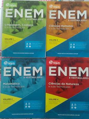 Livros preparatórios para Enem e vestibulares