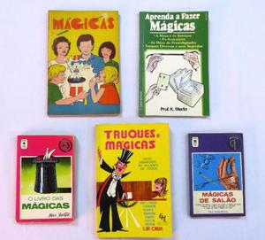 Lote Com 5 Livros De Mágicas + 4 Manuais De Mágica