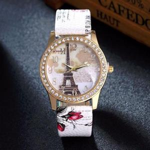 Luxuoso Relógio Feminino Quartz Estilo Fashion