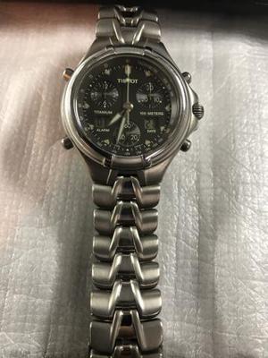 Relógio tissot de titanium e vidro de safira