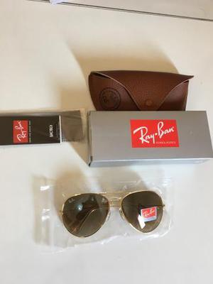 Óculos de sol novo ray ban modelo aviador. com case em ec3dc5b56c