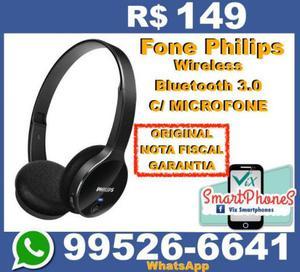 Fone Philips Wireless Bluetooth Com microfone lacrado nota