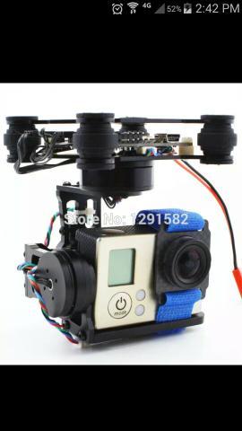 Gimbal 3 eixos para drone novo