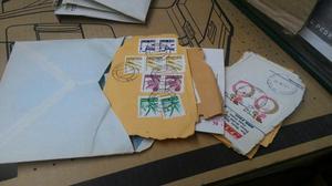 Selos antigos para cartas coleção