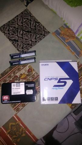 Kit Processador AMD FX-, Cooler Zalman CNPS 5, RAM