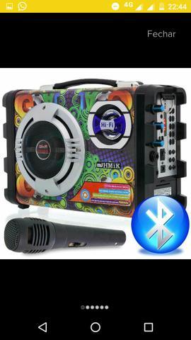 Caixa completa com suboofer, microfone, Bluetooth