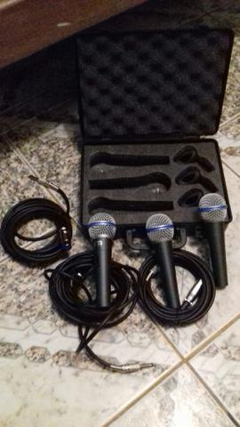 Vendo kit 3 microfones barato!
