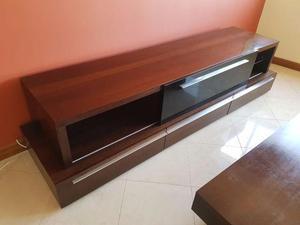 Conjunto de móveis para sala, apoio TV e prateleira parede