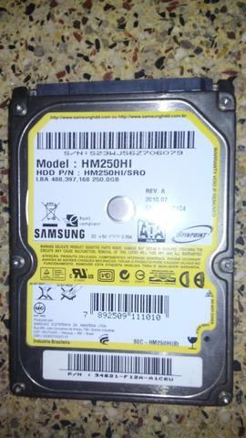 HD Notebook 250gb