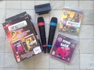 Kit SingStar c/ 2 microfones sem fio + 2 jogos