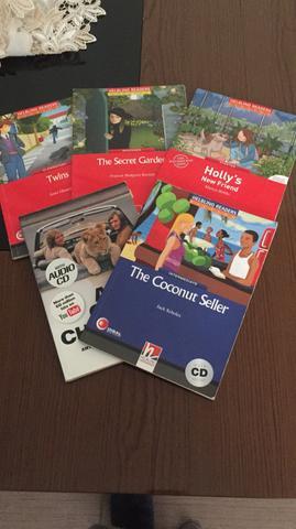 Kit com 5 livros de histórias em inglês