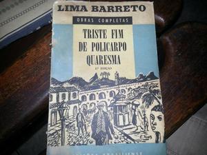 Lima Barreto - Triste Fim de Policarpo Quaresma Edição