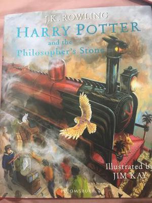 Livros Harry Potter 1 e 2 edição Ilustrada em inglês