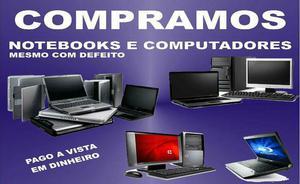 Cpu e notebook usado com defeito