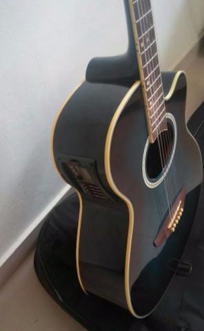 Violão elétrico Tagima Dallas + afinador + capa