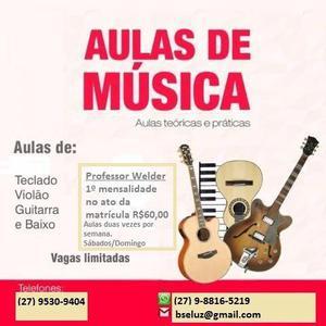 Aulas de Violão, Guitarra, Teclado, Contra baixo