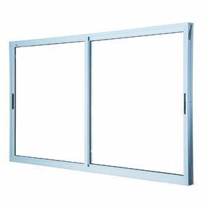 Janela e porta de alumínio branca