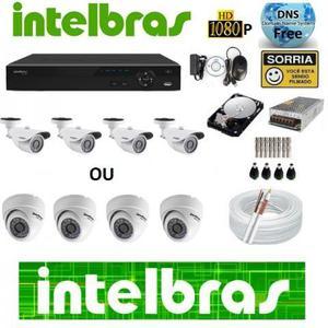 Kit 6 cameras de segurança intelbras instalada contato