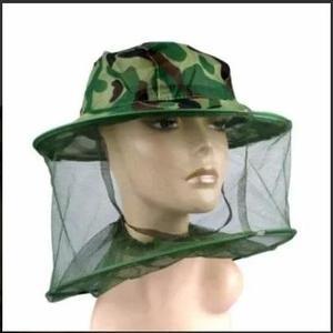 Chapéu com mosquiteiro - camuflado - tela camping pesca 63cb72f0aea