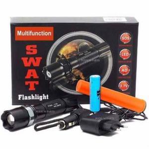 Lanterna Tática multifunional +suporte para bicicleta