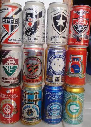 Latas de cervejas antigas - times de futebol