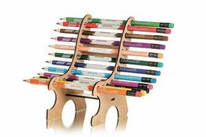 Lápis de cor apagável + Banco porta lápis