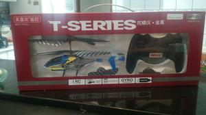 Mini helicóptero de controle remoto t series 3 canais,