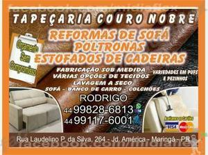 tapecaria couro nobre reformas de sofas fone 44/