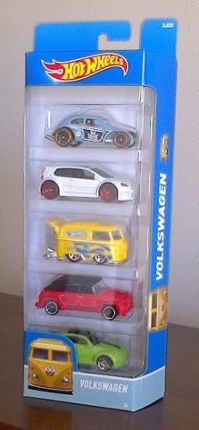 Hot Wheels Volkswagen 5-pack  Fusca Golf Kombi Beetle