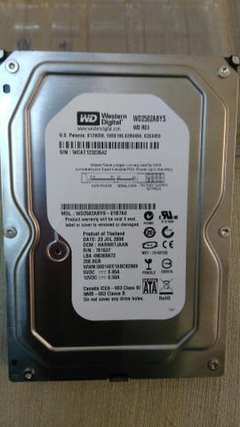 HD 250GB Sata Western digital confira vale a pena