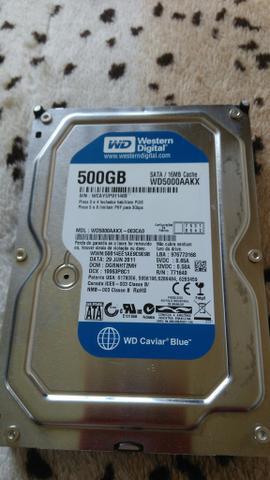 HD interno 500GB Sata Western digital Blue Caviar