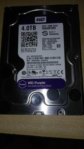 Hd interno 4tb sata western digital purple seminovo confira