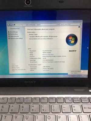 Netbook Sony Vpc W211ax 1.6ghz 1gb De Memoria