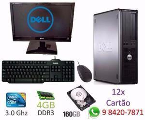 Pc Dell Completo 4gb Core 2 Duo 3.0Ghz 12x nos cartões