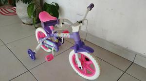 Bicicleta infantil feminina princesinha