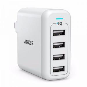 Carregador Ultra rápido 4 portas USB Anker 40W PowerIQ