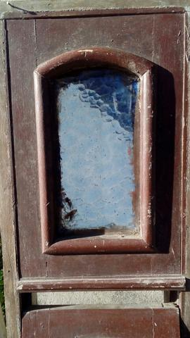 Antigo vitrô de maxiar em madeira de lei 15x30x120cm