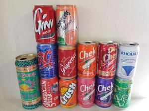 Lote de 16 latas refrigerante importadas vazias em excelente