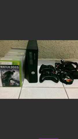 Promoção Xbox 360 slim destravado com Kinect jogos e
