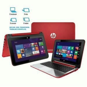Notebook 2 em 1 Touch HP Pavilion x-n022br - Vermelho!