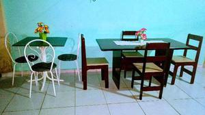 Mesa 4 cadeiras MDF