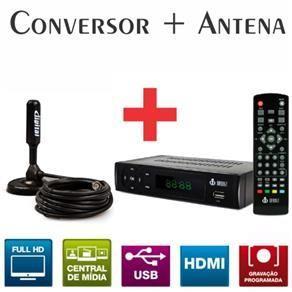Receptor De Sinal TV Digital + Antena Digital Interna